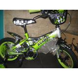 Bicicleta Rin 12 Exclusiva De Alta Calidad Verde Y Azul