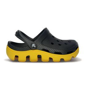 Crocs Originales Duet Sport Clog Kids Negro Niños 037