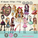 Kit Imprimible Clipart Imagenes Scrapbook Ever After High Pa