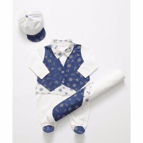 Saída Maternidade Marinheiro Para Menino Cor Branca