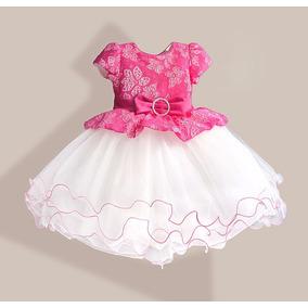 Vestido Infantil Festa Princesa Daminha Tutu Renda Realeza