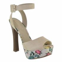 Sapato Alto Floral Sandália Salto Fino Mulher Melissa Moleca
