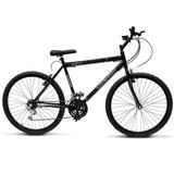 Bicicleta Aro 26 18 Marchas Ultra Bikes V-brake Preto