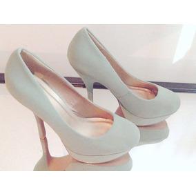 Zapatos Con Plataforma Color Menta
