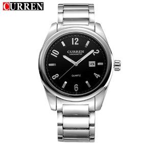 2fc8b37b8b6 Relógio Masculino Curren Em Aço Original Pronta Entrega