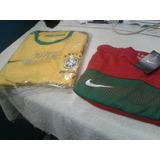 Franelas Deportivas De Futbol Brasil