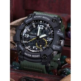 Relógio Masculino G-shock Sanda Militar Verde A Prova Dagua