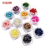 Lasten12 Kit De Perlas De Decoración De Uñas, Perlas Faux P