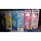 Tintas Epson L850, L1800 Originales. Pack De 6 Unidades