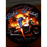 Luminoso Decorativo Moto Pin Up Bike Week Garage Bar Buteco