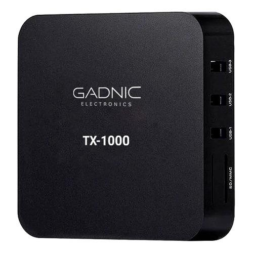 Tv box Gadnic TX-1000 Premium SMTV0028 estándar 4K 8GB negro con memoria RAM de 1GB