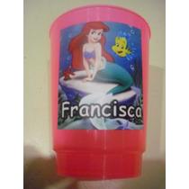 Vasos Plasticos Personalizados La Sirenita Cumpleaños 10u