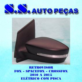 Retrovisor Fox Spacefox Crossfox Original Eletrico Com Pisca