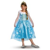 Disfraz Traje Congelado Elsa Lujo Chica De Disney, 7-8