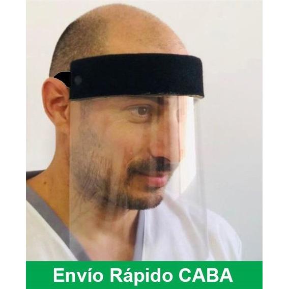 Máscara Protección Facial Plástico Transparente Acetato 200m