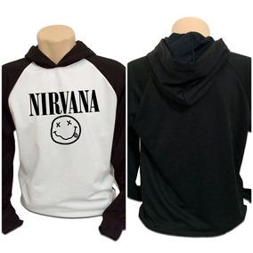 Casaco Blusa Moletom Nirvana Punk Rock Grunge