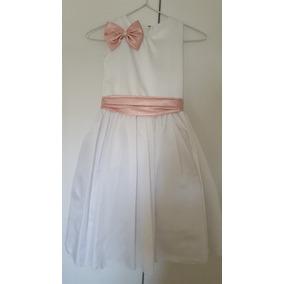 Vestido Daminha De Festa Branco