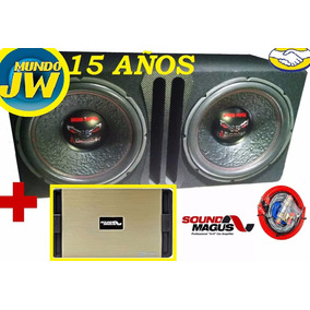 Combo Doble Bomber Bicho Papao 15 1200 X2 + Pote Sound Magus