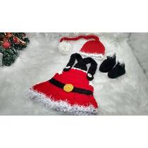 Mamãe Noel Vestido Croche Para Fotografia Infantil