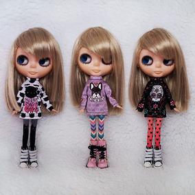 Blusa Para Boneca Blythe E Barbie - Roupa