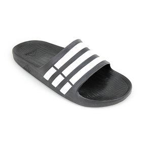 Ojota adidas Original Duramo Slide Negro Blanco