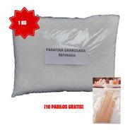 Parafina Refinada Natural Granulada 1kg Blanca Sin Aroma
