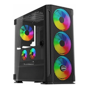 Gabinete Raidmax F01 Argb Mid Tower Negro 4 X Fan 120mm