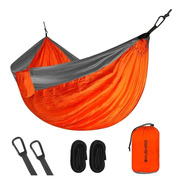 Hamaca Paraguaya Camping 2 Plazas Rfzda + Accesorios + Bolso