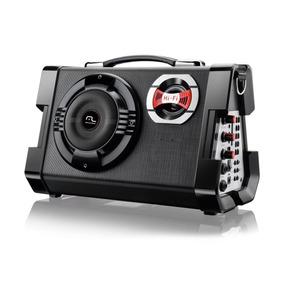 Caixa Som Amplificadora Com Microfone Radio Bivolt 80w Sp191