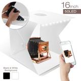 Estudio Portable Con Luz Led De 40 X 40 X 40cm Para Fotograf