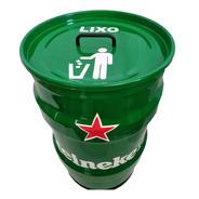 Lixeira Domestica Tambor Decorativo Heineken Tonel