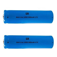 Kit 2 Bateria Recarregável Li-ion 14500 3.7v Lanterna Led