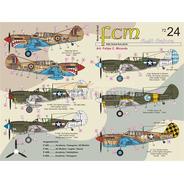 Decalque P-40 Galore ( Parte 3 ) 1/72 Fcm Decals Fcm72024