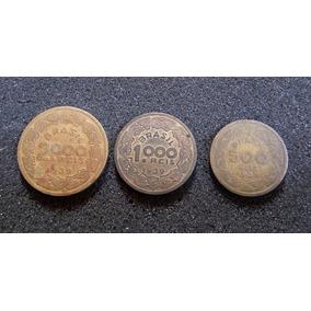 Moedas 2000, 1000 E 500 Réis De 1939 - Brasileiros Ilustres