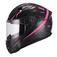 Casco Integral Mac Speed Riot Pink Dama Mujer Moto Delta