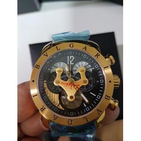 b46f2982e45 Dourada - Relógio Bvlgari Masculino no Mercado Livre Brasil
