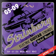 Encordoamento Guitarra 09 Strinberg Gs09 Nickel Wound