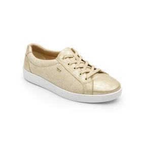 Zapato Tenis Flexi 33505 Negro Silver Dorado Flores Flats