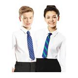 Camisa Niño Manga Larga Colegio Blanco Celeste Talle 6 Al 20