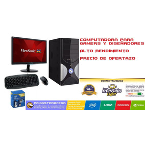 Computadora Pc Gamer Diseñador I7, 500gb, 8gb Ram, 24plg