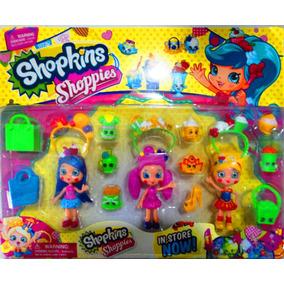 Super Kit Boneca Shopkins Shoppies E Acessorios !