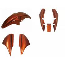 Kit Carenagem Honda Titan Cg150 2007 Laranja Canela Metalico