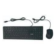 Combo Teclado Y Mouse Usb Multimedia Sansei Con Cable