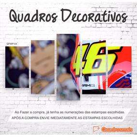 Valentino Rossi 46 Moto Gp The Doctor Quadro 114x65 Decor 5p