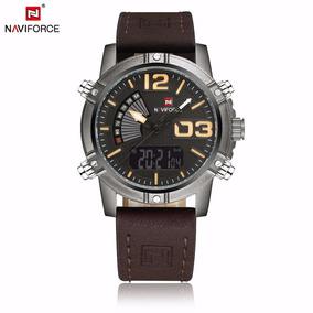 3d13d77e73c Relógio Masculino Couro Luxuoso +super Brinde + Frete Grátis