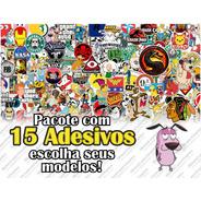 Adesivos Geek, Nerd E Personagens (15uni.)