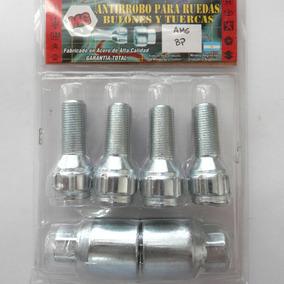 Set Antirrobo Mg 4 Bulon Minicooper Llanta Origal + Encastre