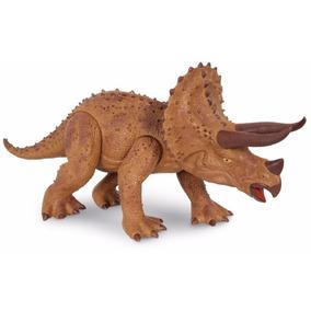 Triceratops Dinossauro 45 Cm Dino World Com Som - Cotiplás