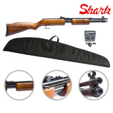 Rifle Gas Shark A Repeticion Co2 Cal 5.5mm + Funda + Baline
