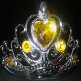 Vincha Tiara Corona De Princesa Plastica Plateada Niña Nena